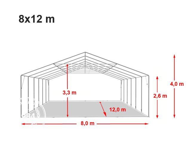 Párty stan Professional XXL 8x12m