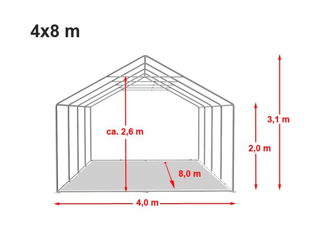 Párty stan Prémium 4x8m