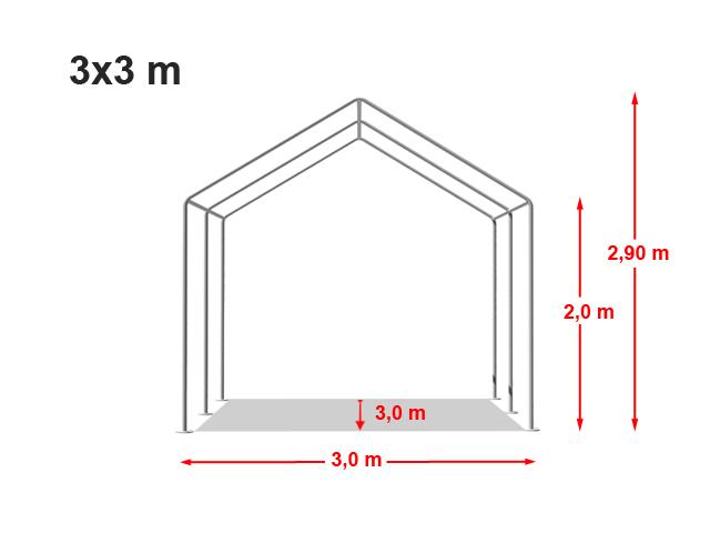 Párty stan ECONOMY 3x3m