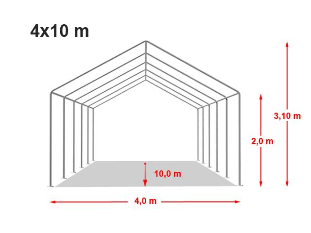Párty stan ECONOMY 4x10m